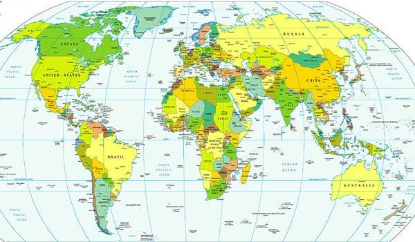 Imágenes del mapamundi con sus continentes - Imagui