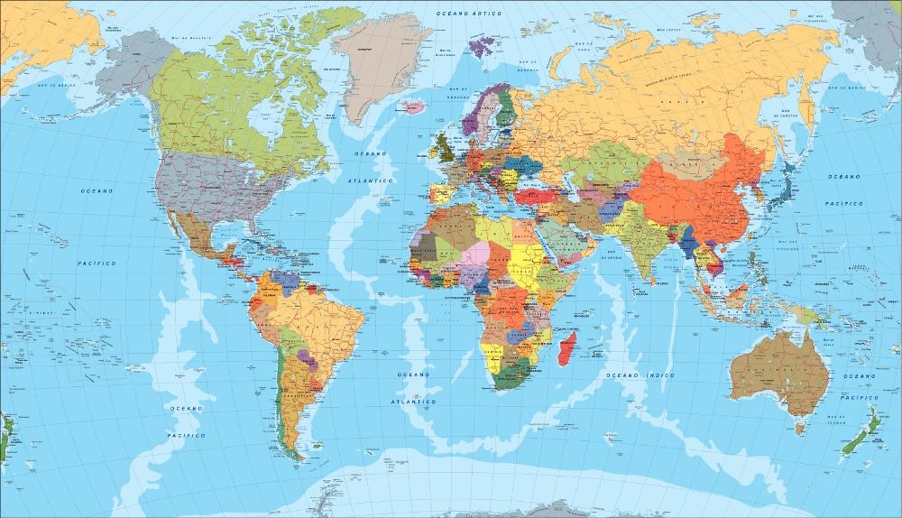 Del mundo for Mapa del mundo decoracion