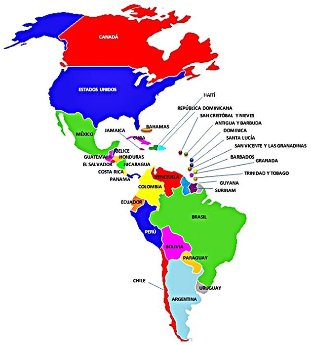 Mapa de america for America todo un inmenso jardin eso es america