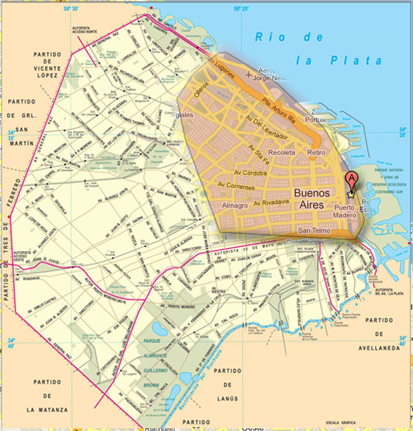 Capital Federal Mapa Microcentro