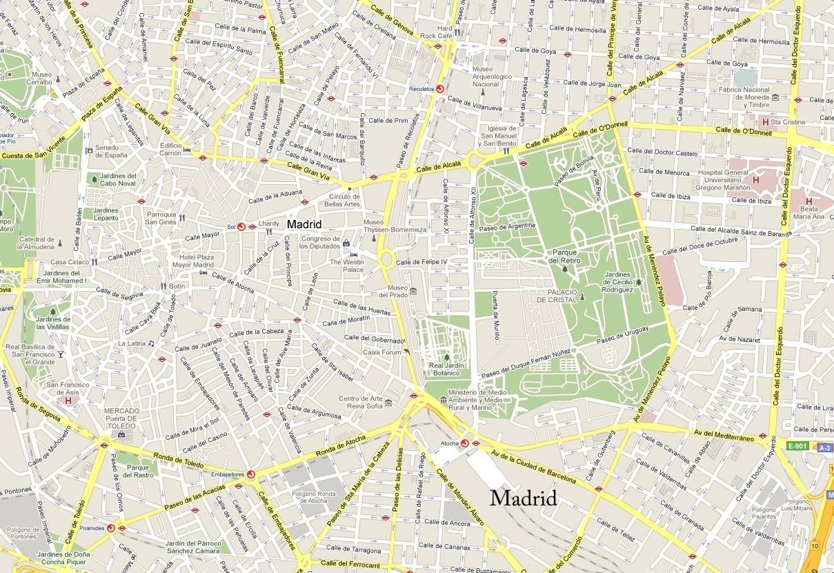 Mapa callejero madrid