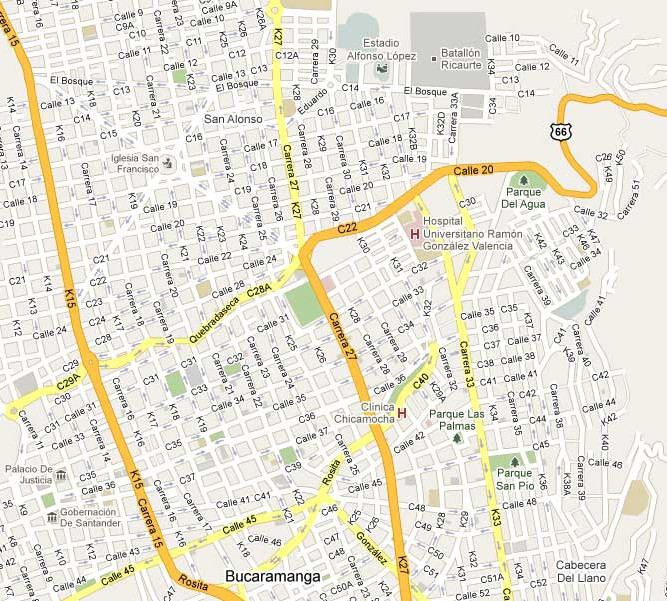 Mapa callejero online