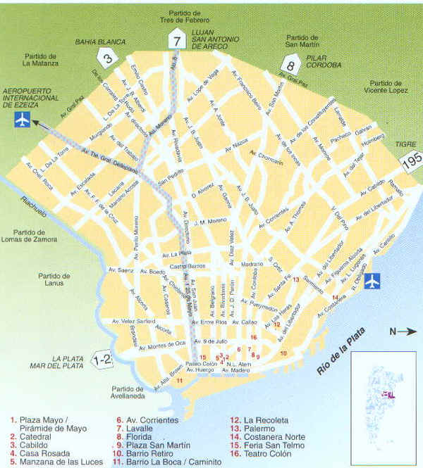 Mapa calles bs as
