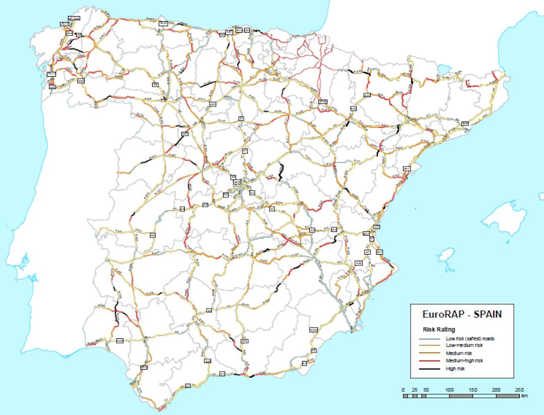 Mapa carretera España