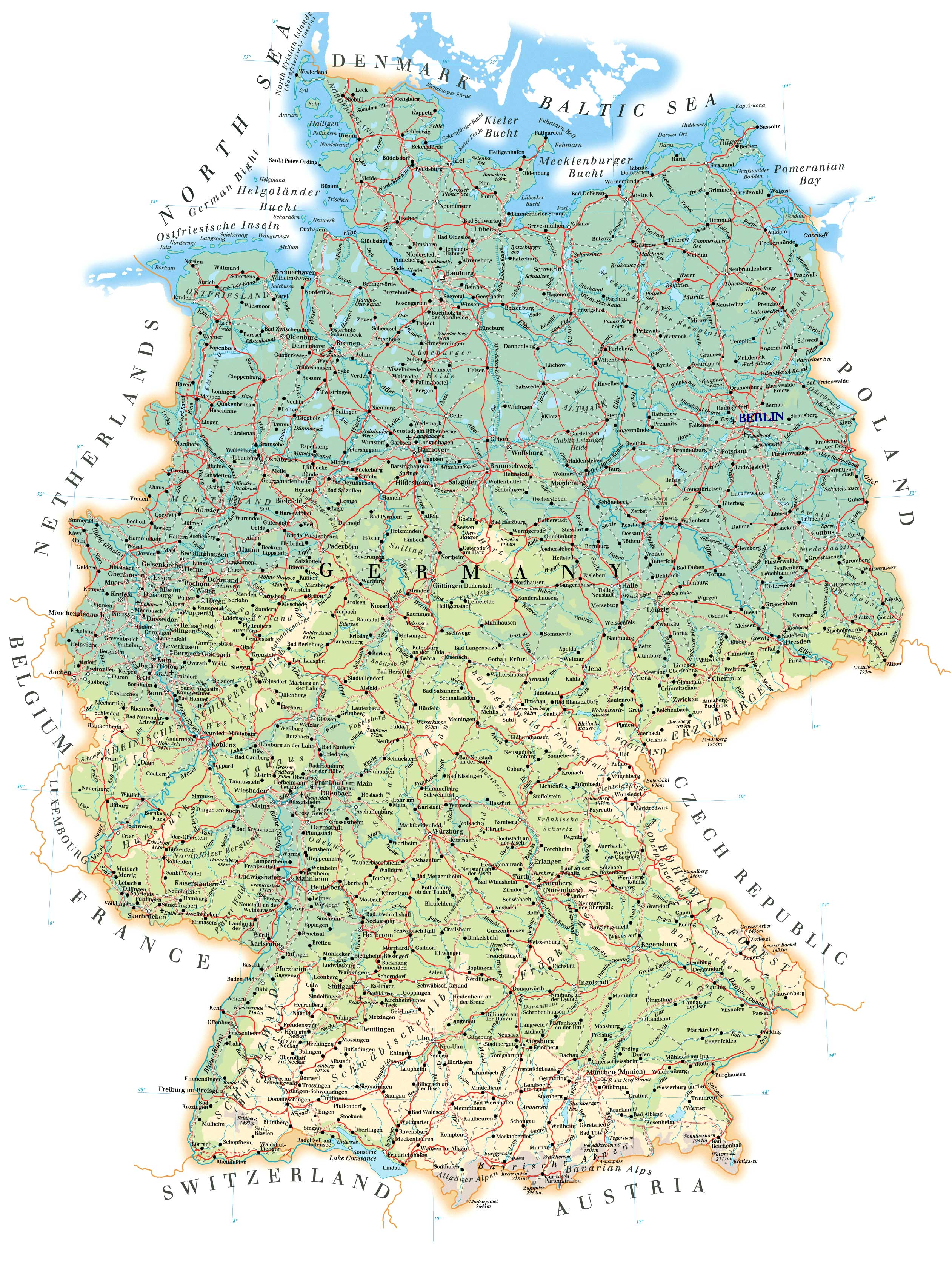 Mapa de Alemania online
