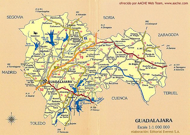 Mapa de Guadalajara gratis