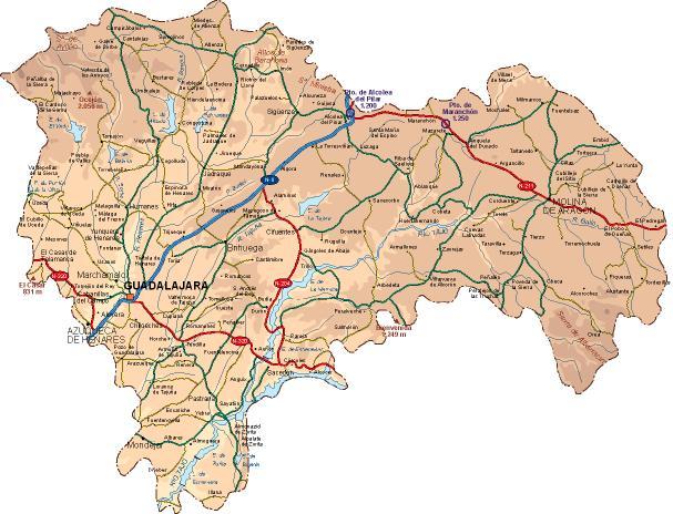 Mapa de Guadalajara