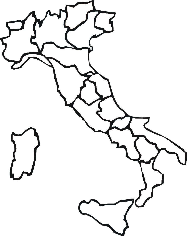 Mapa de Italia region