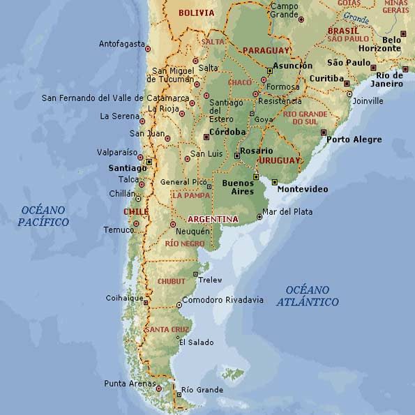 Mapa de argentina