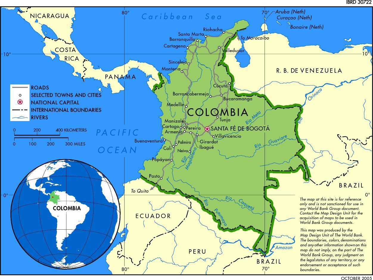 Mapa de bogota colombia online