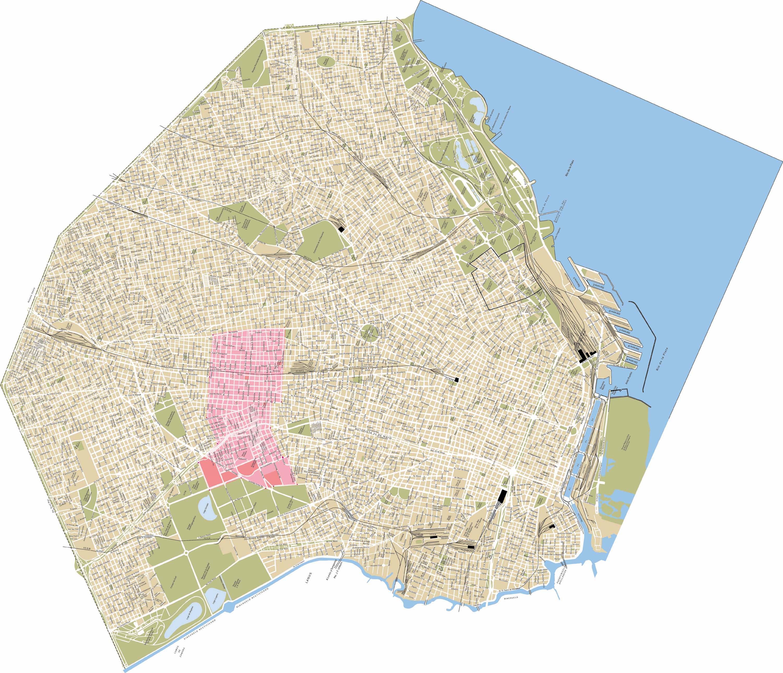 Mapa de capital federal mapa