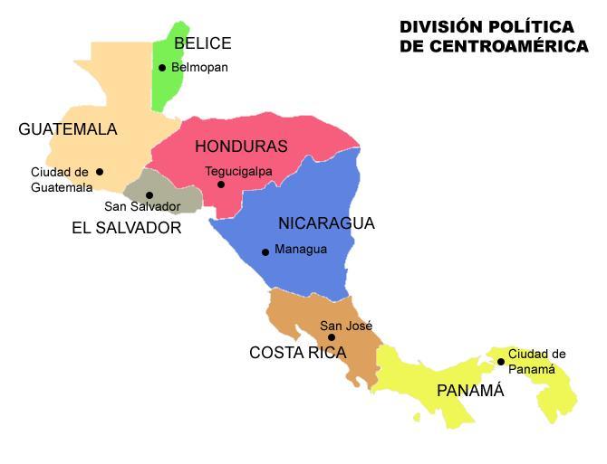 Mapa de centroamerica gratis