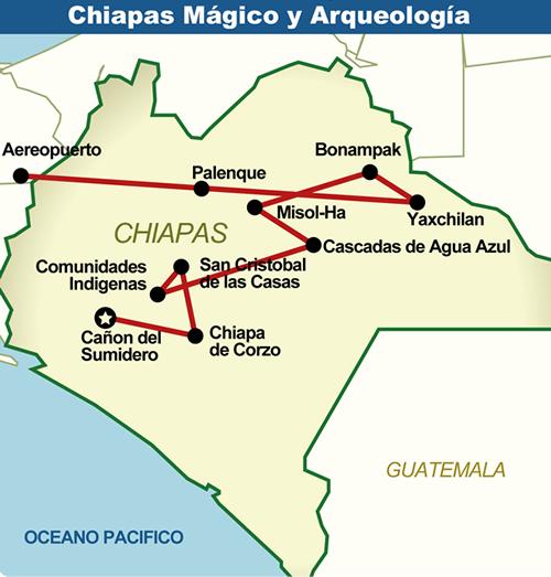 Mapa de chiapas arqueologia