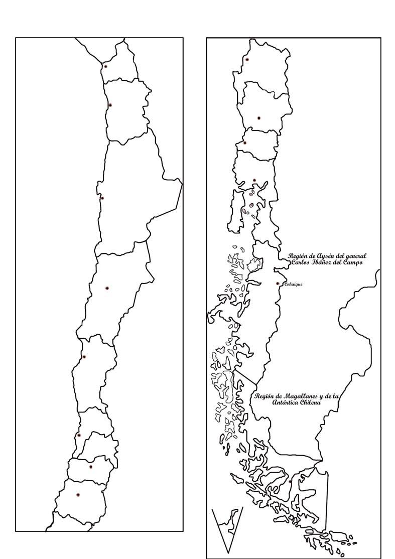 Mapa de chile megapolitico