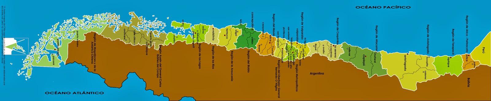 Mapa de chile politico