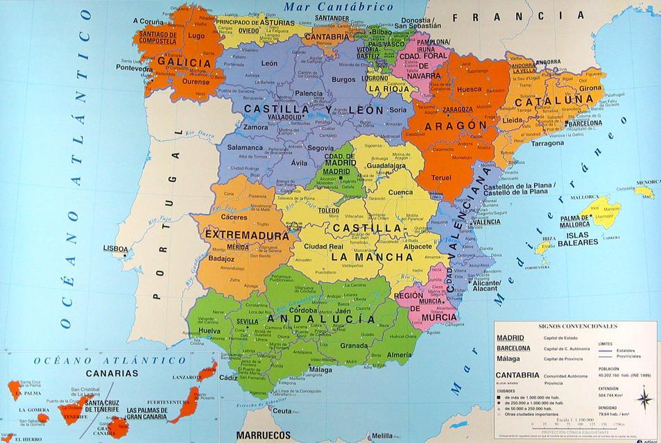Mapa de españa político