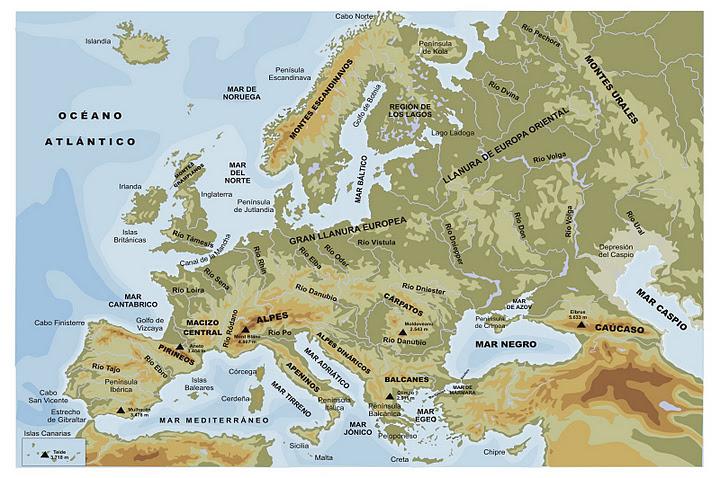 Mapa de europa online