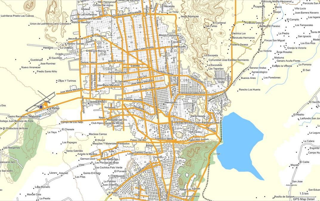 Mapa de hermosillo imagen