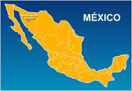 Mapa de hermosillo