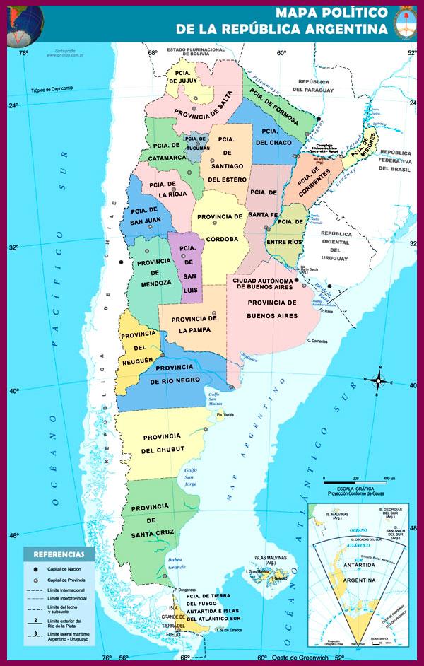 Mapa de la republica argentina politico