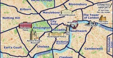Mapa de londres online
