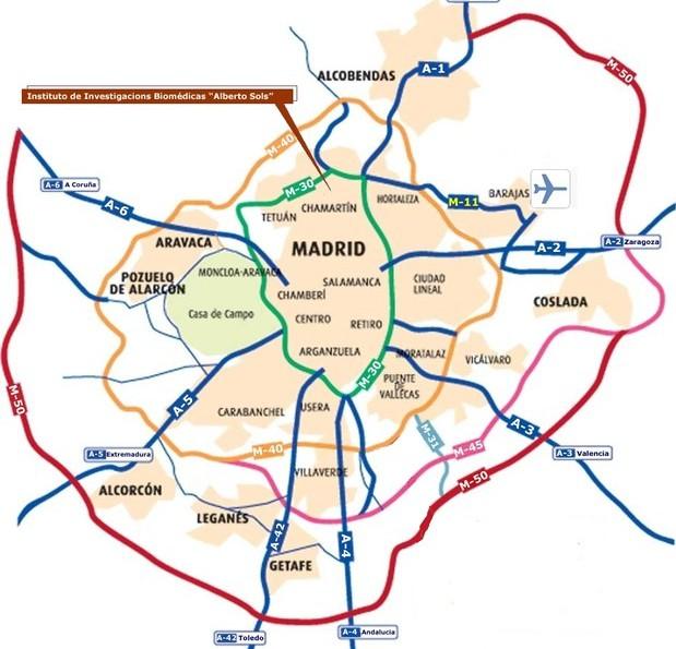 Mapa de madrid online