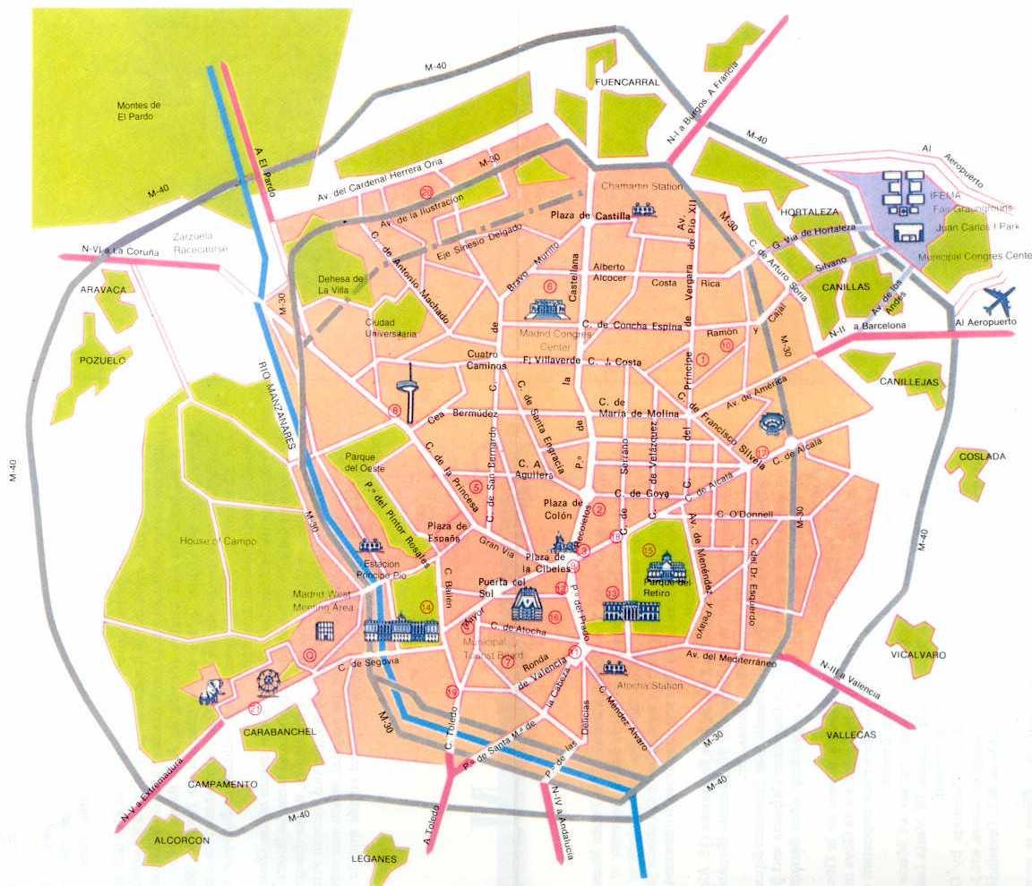 Madrid - Mapa de la ciudad Laminado 2016 (Michelin - mapa de la ciudad laminado)