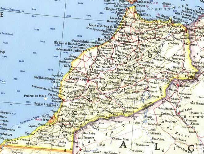 Mapa de marruecos online