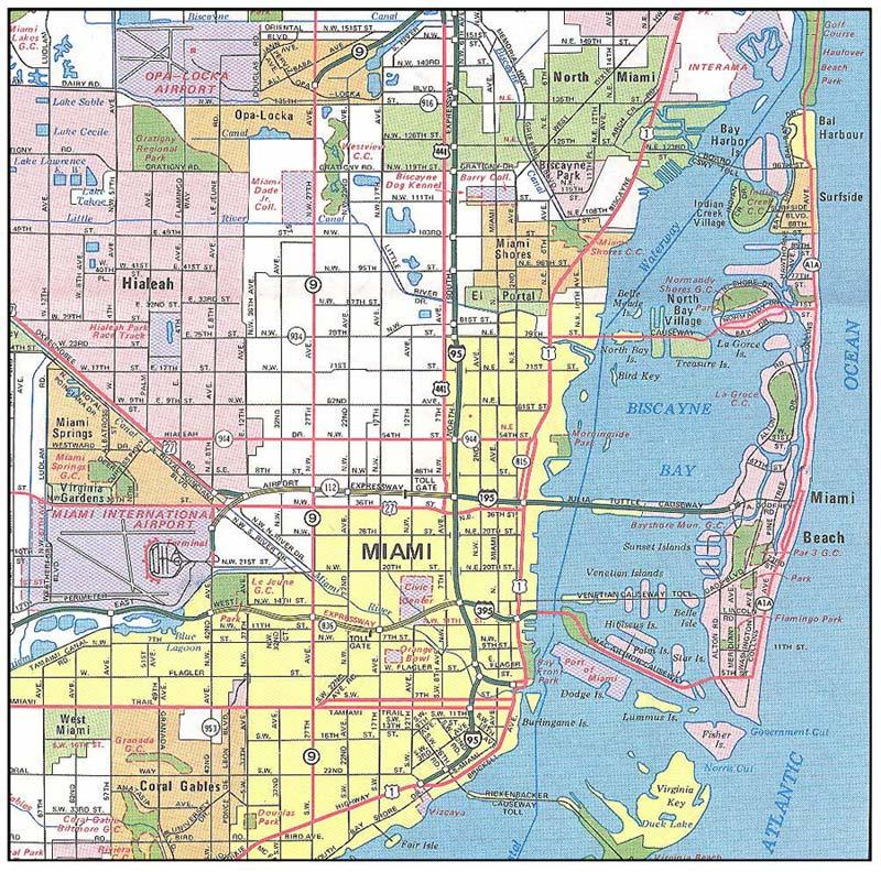 Mapa de miami