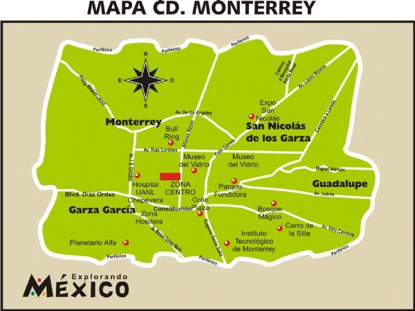 Mapa de monterrey
