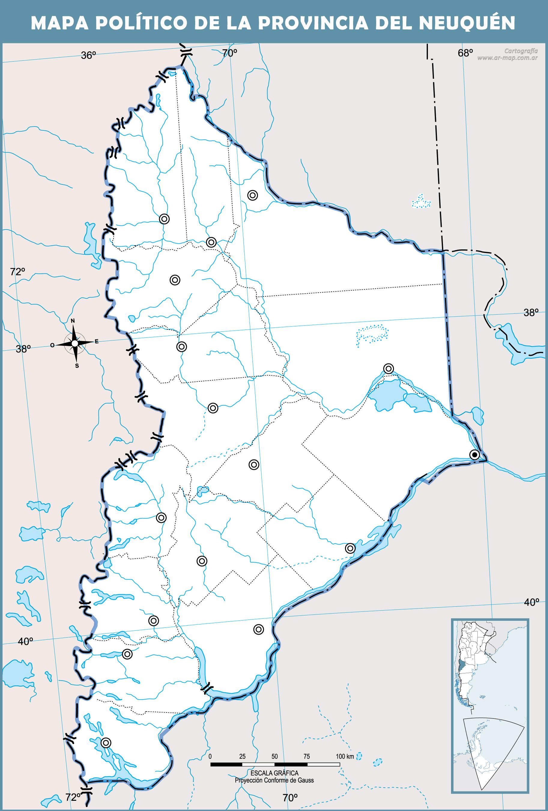 Mapa de neuquen politico