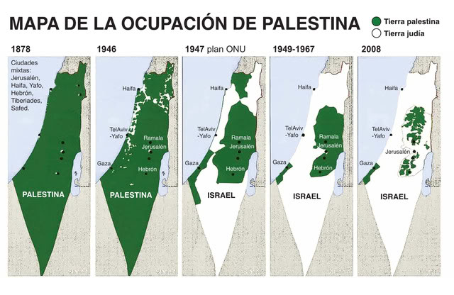 Mapa de ocupacion palestina