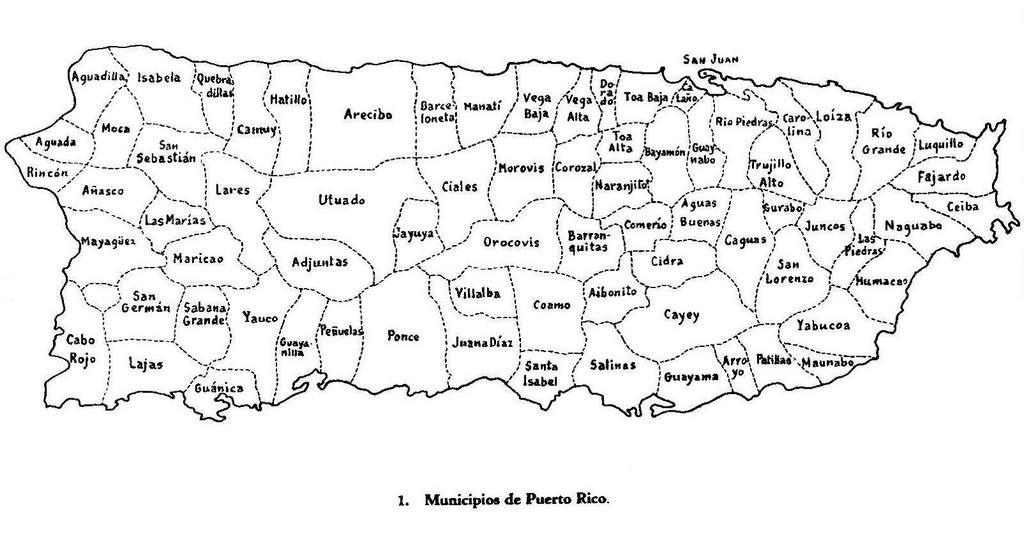 Mapa de puerto rico minicipios