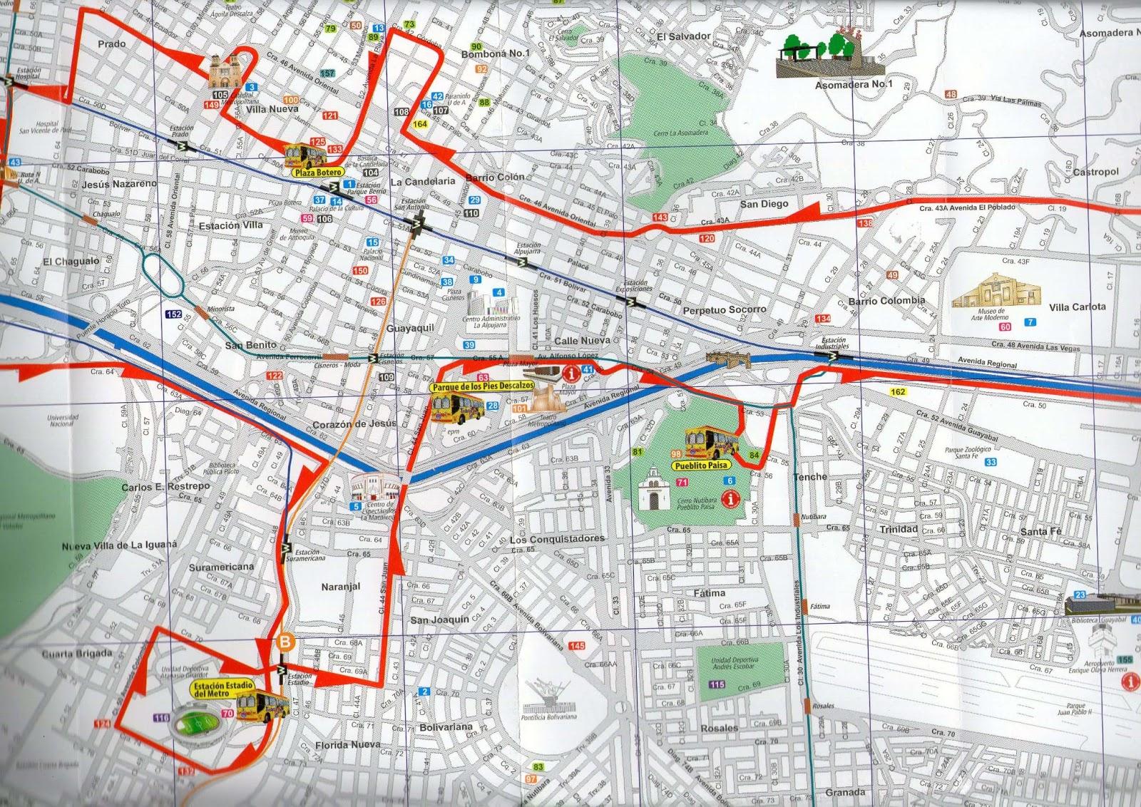 Mapa de red medellin