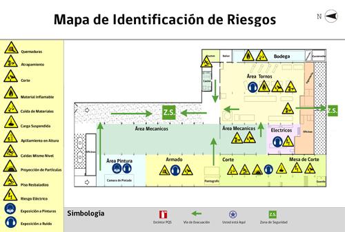 Mapa de riesgos for Como hacer un plano de una oficina