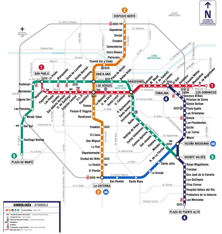 Metro santiago for Calles de santiago de chile