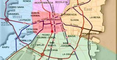 Mapa de santiago gratis