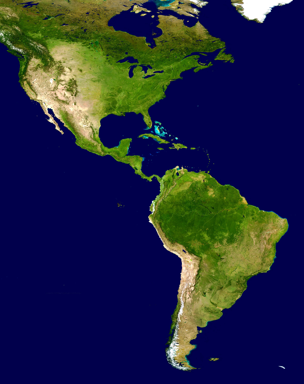 Mapa del continente americano gratis