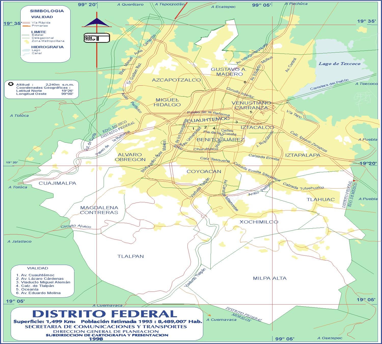 Mapa del df carretera