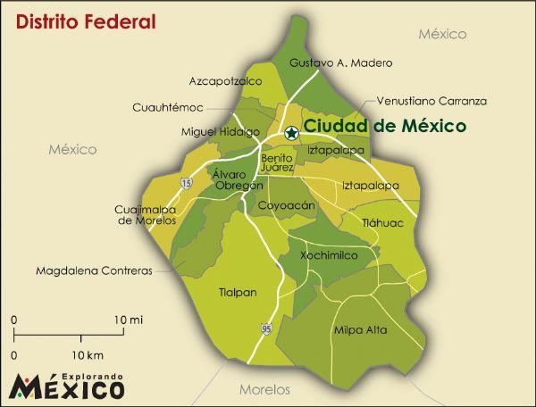 Mapa del df