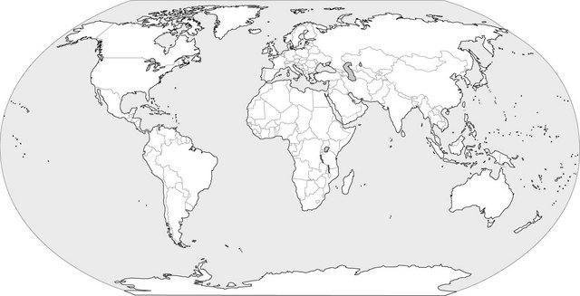 Mapa del mundo blanco y negro