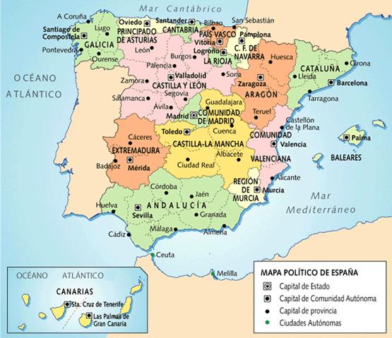 Mapa españa político