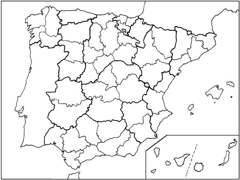 Resultado de imagen de mapa españa provincias