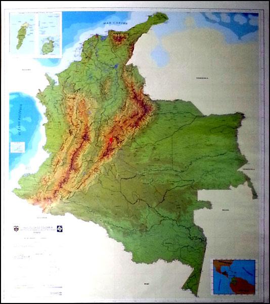 Mapa fisico colombia