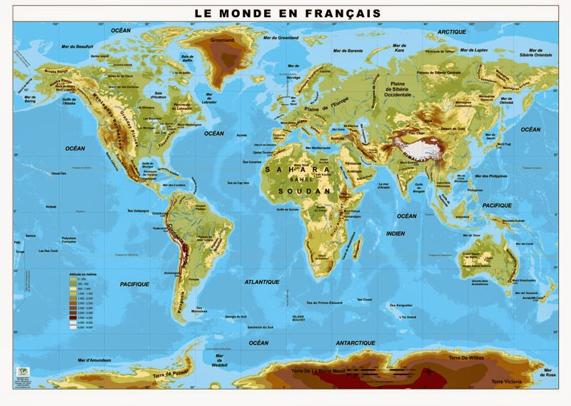 Online Mapa Fisico Del Mundo