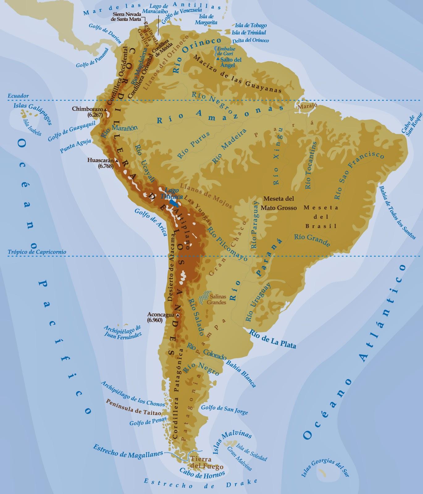 Mapa fisico