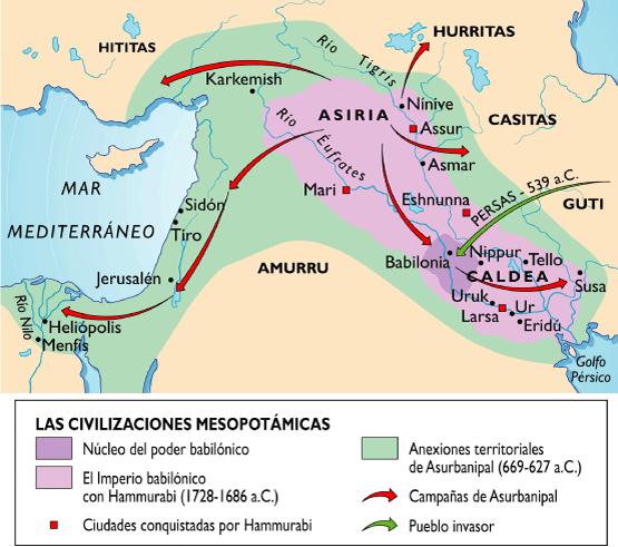 Mapa mesopotamia de