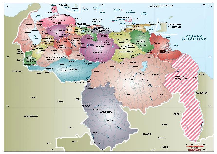 Mapa politico venezuela gratis