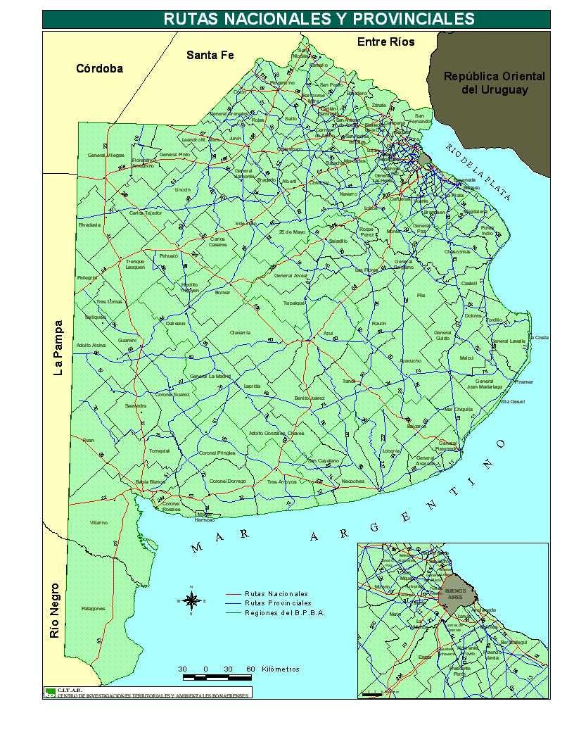 Mapa provincia buenos aires gratis