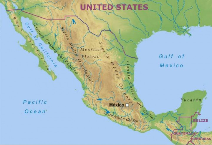 Mapa republica mexicana